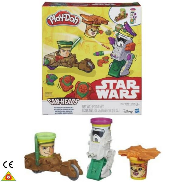 Play Doh Playdoh Star Wars Can-Heads Mission on Endor  Age 3+ Years B2524